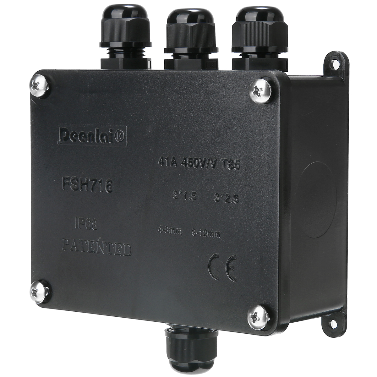 1pc LED Waterproof Junction Box Electrical Terminal 4 Way Underground Cable Protection Sleeve Connector IP68 3 Port