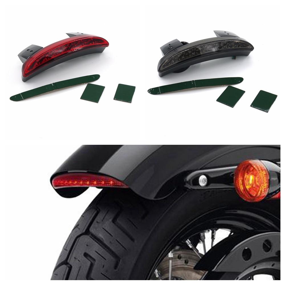 US $13 17 15% OFF|Eonstime 12V Motorcycle Smoke Red Len Rear Fender Edge  8LED Tail Light for Harley Davidson Iron 883 XL883N XL1200N Chopped on