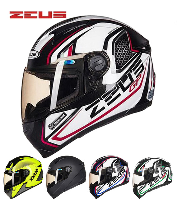 2018 New ZEUS Full Face Motorcycle Helmet ABS Motocross Motorbike Helmets with DOT Certification Size M L XL XXL 2017 summer new yohe full face motorcycle helmet yh 970 motocross motorbike helmets of abs 10 kinds of colors size m l xl xxl