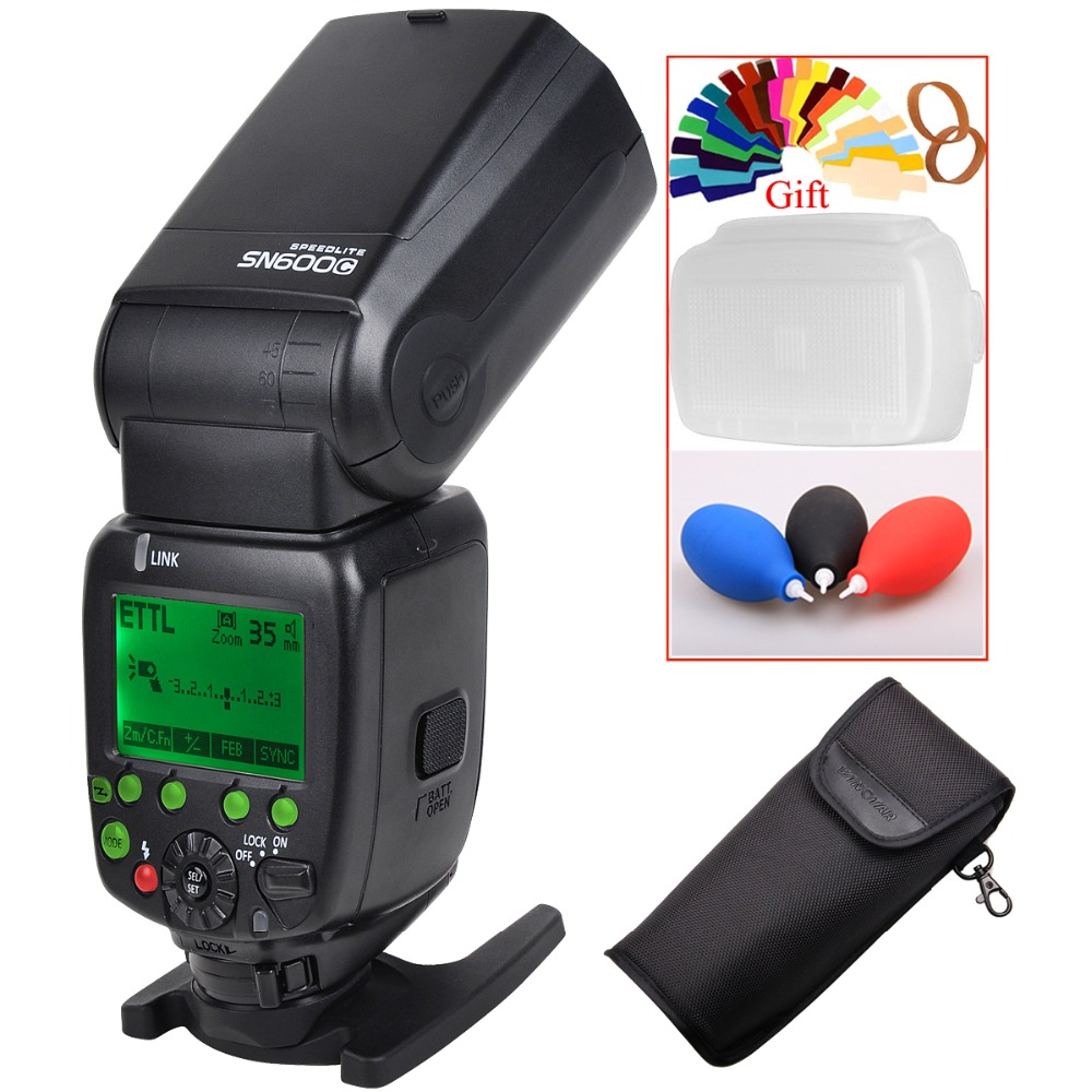 SHANNY SN600C HSS 1/8000S On-camera TTL GN60 Flashgun Flash Speedlite For Canon 5D Mark III / II 50D 40D 30D 5DsR DSLR Cameras цена