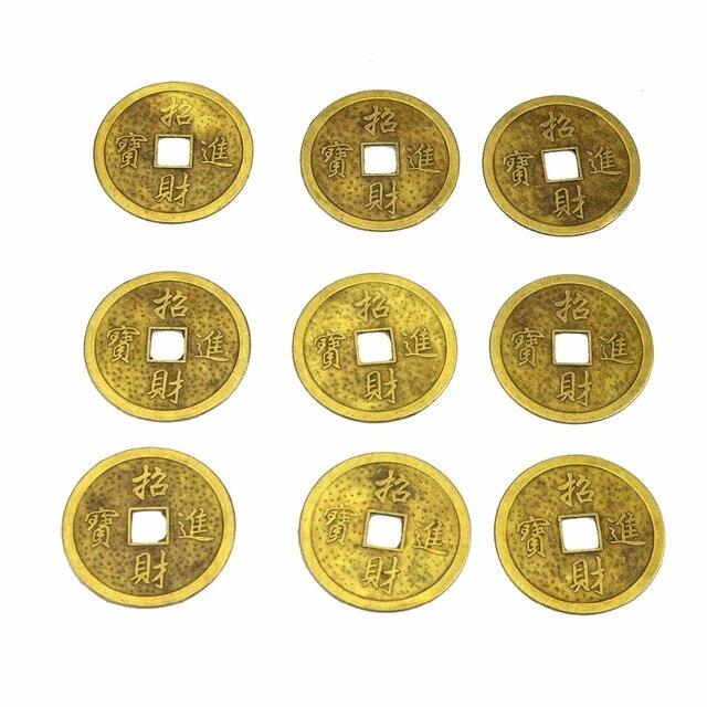9 Stücke Chinesischen Glücksmünzen Feng Shui Dragon Phoenix Münze
