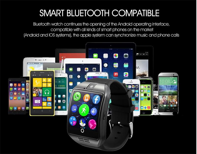 MOCRUX Q18 Passometer Smart watch with Touch Screen camera Support TF card Bluetooth smartwatch for Android IOS Phone 28