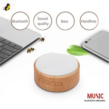 JQAIQ Wireless Bluetooth Speaker Wood Portable Grain Mini Subwoofer Audio Stereo Loudspeaker Sound System Support Tf Aux Usb