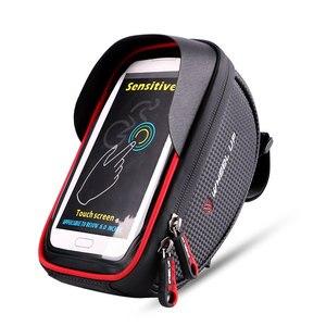 Image 2 - Wodoodporny futerał na telefon komórkowy stojak na iphone 11 XS Max XR torba na telefon do Samsung S10 S9 Plus rowerowa przednia torba na kierownicę