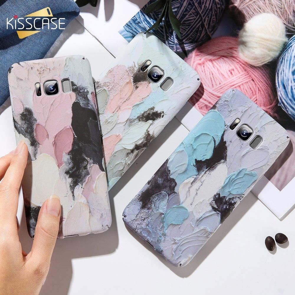 KISSCASE чехол для Samsung Галактики A3 A5 2016 A5 A7 A3 2017 3D с тиснением и изображением светящиеся Чехлы для Samsung Galaxy Note 9 8 S8 S7 край S9 Capinhas|Бамперы|   | АлиЭкспресс