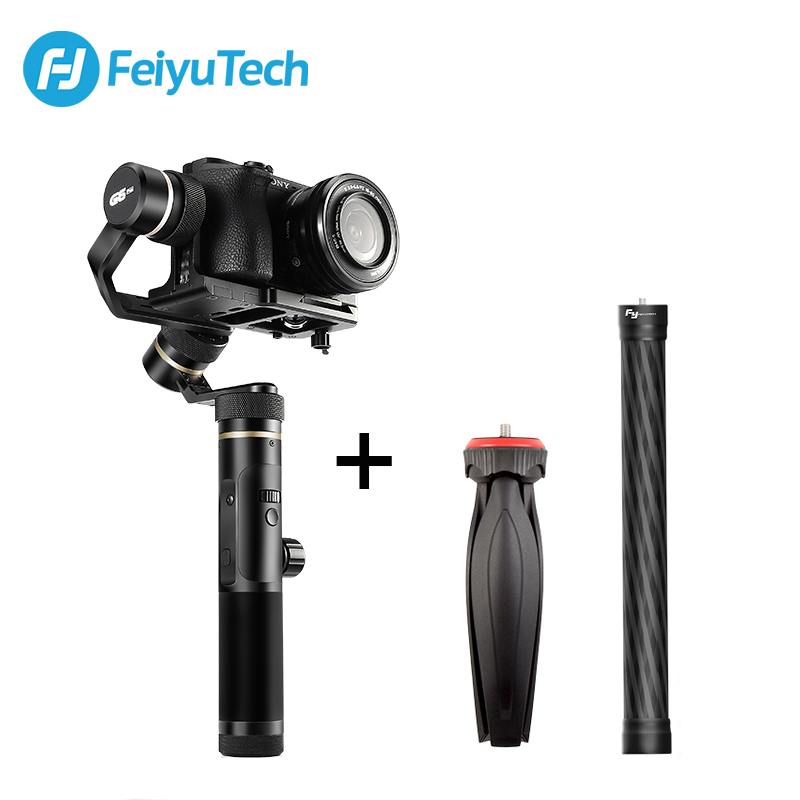 FeiyuTech Feiyu G6 Plus 3-Axis Handle Splash proof Gimbal Stabilizer for Mirrorless Pocket Camera GoPro Hero 6 5 Smartphone feiyutech feiyu spg gimbal 3 axis splash proof handheld gimbal stabilizer for iphone x 8 7 6 plus smartphone gopro action camera