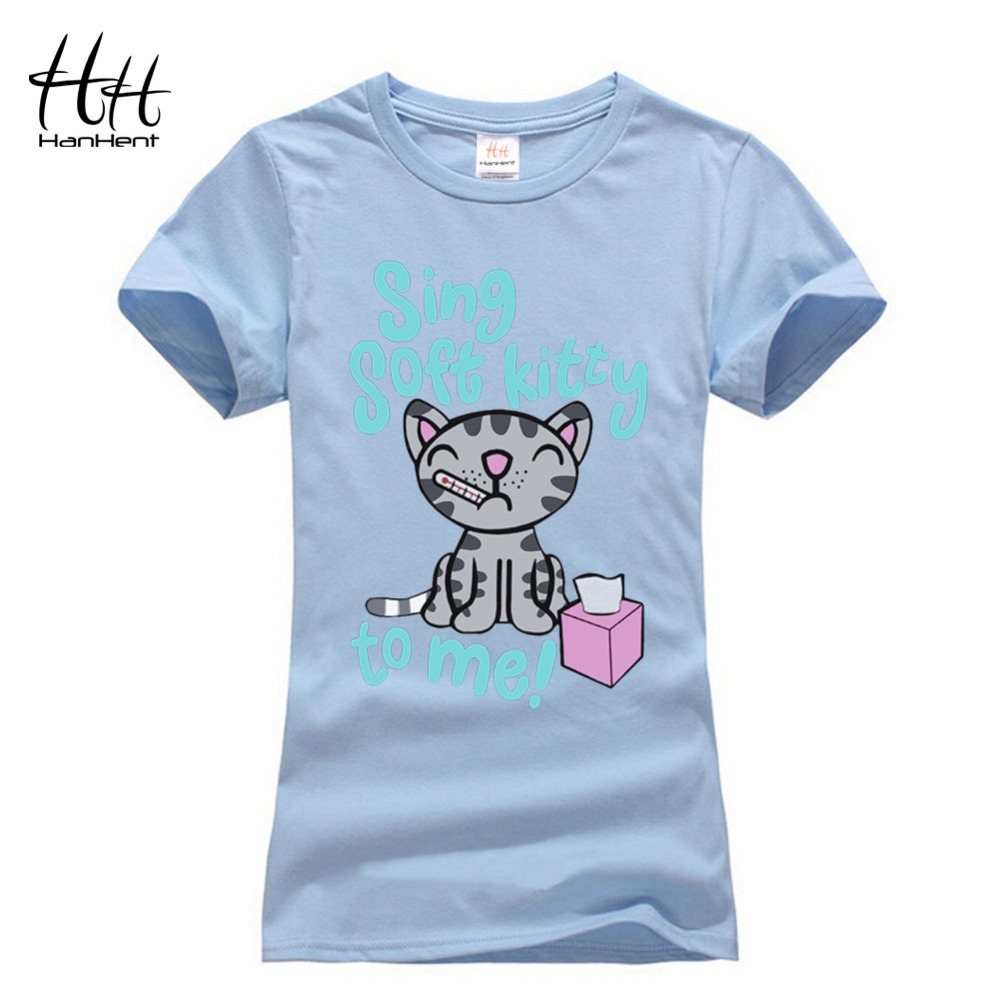 Hanhent Women The Big Bang Theory Soft Kitty Female Tshirt