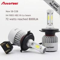 12v 72W Led Car Light Headlight Bulbs 16000LM Kit H4 Led Auto Fog Light Combo Beams