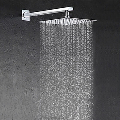 Charmant 20cm*20cm Stainless Steel Rainfall Shower Head With Arm Bathroom Shower  With Pipe Square Shower Head Bathroom Accessories In Shower Heads From Home  ...
