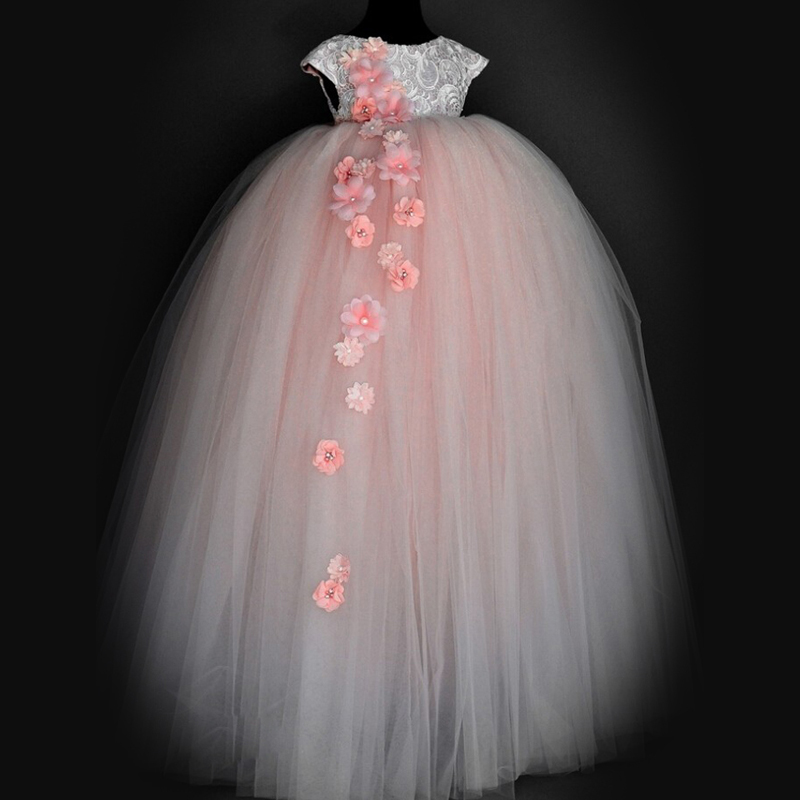 Pink Honorable Appliques Sleeveless Beading and Jewel Ankle Length Ball Gown for Weddings The best Flower Girl Dress new 2016 4pcs new for ball uff bes m18mg noc80b s04g