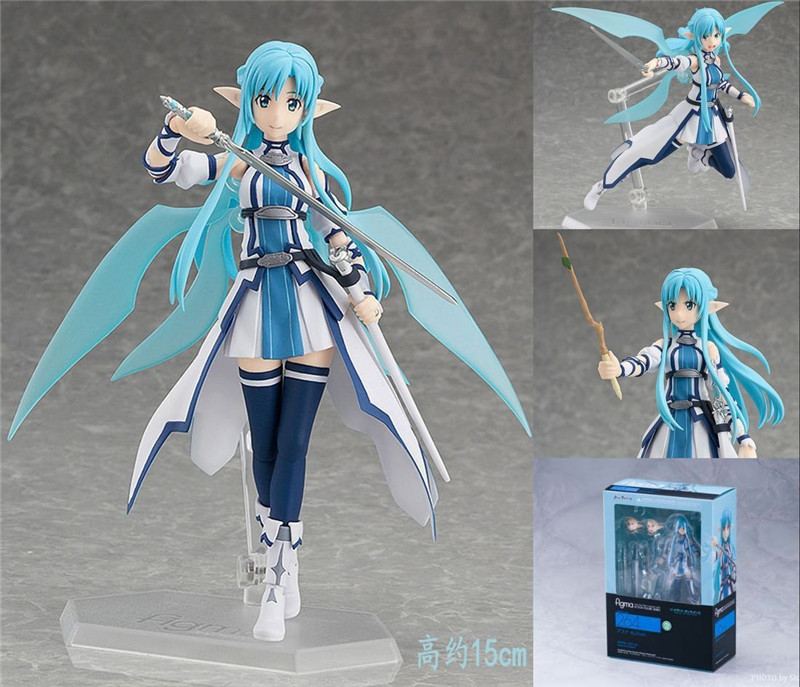 Anime Sword Art Online Figma 264 Yuuki Asuna Undine Special PVC Action Figure Collectible Model Toy 15cm japan anime figma sword art online yuuki asuna sao new pvc action figure collection model toys doll 15cm lc0183