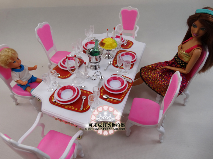 boneca acessórios casa mobiliário jogar conjunto bonito