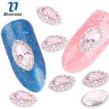 Blueness 10Pcs lot 3D Nail Jewelry Decoration Nails Art Glitter Rhinestones For Manicure Pink Gem Design