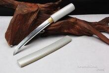 Japanische Tanto Handmade T10 Stahl Ton Gehärtetem Echt Hamon Kleine Messer Brieföffner Glänzend Silber Farbe Schärfe Liefern