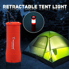 Selling High quality Waterproof outdoor adventure Portable 4 Colors LED Camping Light Lamp Zoomable Retractable tent 3A Battery