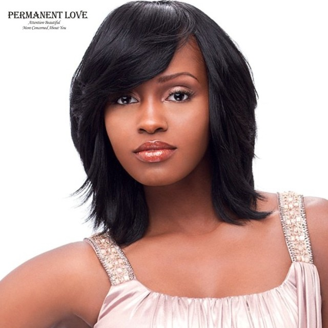 Synthetic Wigs For Black Women Fashion Style Long Bob Wigs With Side