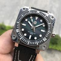 San Martin Fashion Damascus Automatic Watch Men 200m Water Resistance Swiss ETA2824 2 Movement WatCh Shark leather strap reloj