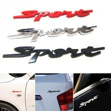Waterproof Car Sticker 14*1.5CM ABS  Funny 3D Stereoscopic Impression Auto Decals Sport Pattern Red Black Car DIY Decoration
