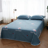 Wholesale 1 Pcs Bedsheet 100% Cotton Bed Sheets King Queen Full King Size Flat Sheet Bed Cover Mattress Cover Bedspreads