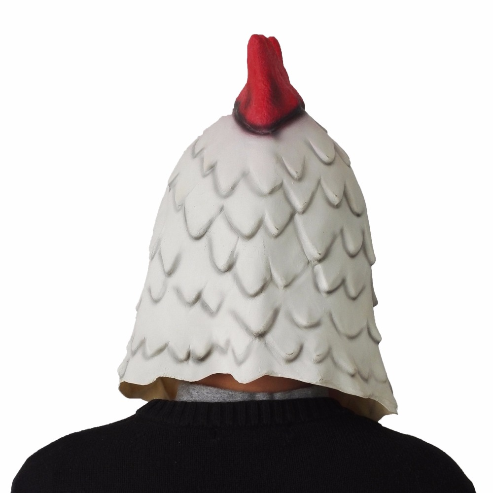 Image 5 - white Latex rooster Adults Mad Chicken cockerel Mask Halloween scary funny masquerade cosplay mask party mask-in Party Masks from Home & Garden