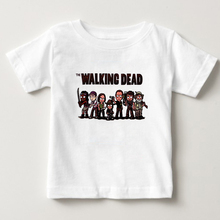 T-shirts for girls 2018 summer Walking Dead print funny t shirts casual T shirt short sleeve O-neck tops tee shirts for boys  NN casual letter print jewel neck short sleeve tee for women
