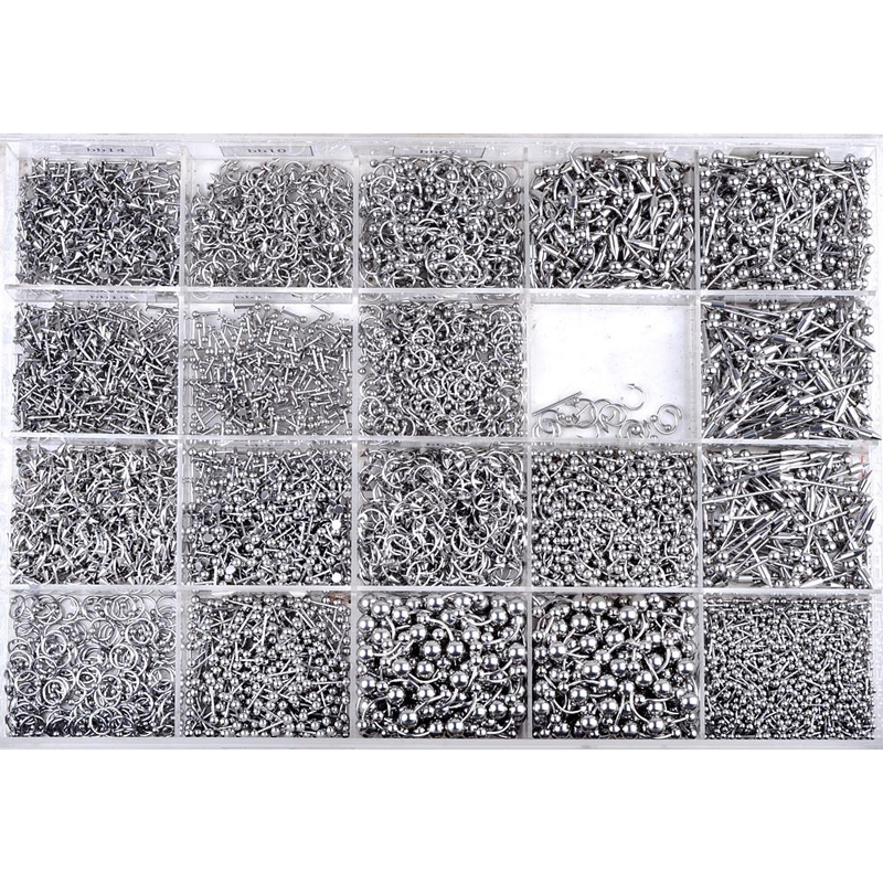 110Pcs Mix Styles Stainless...