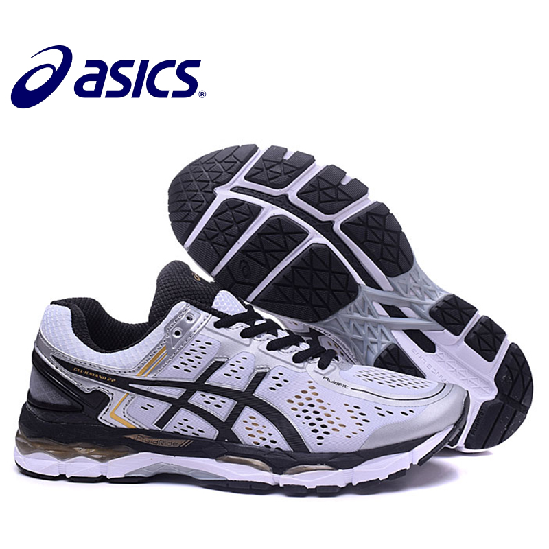 2018 New Arrival Official ASICS GEL-KAYANO 22 Mens Cushion Sneakers Comfortable Outdoor Athletic shoes Hongniu ...