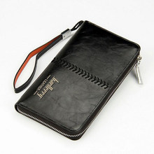 Men Wallets Long Large Capacity Zipper Male Wallet Cell Phone Pocket Card Holder Purse Male Money Purses Coin Pocket Wallet(China)
