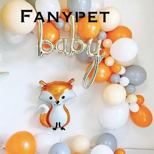 big animal foil balloons Woodland Fox script one toy birthday party decorations balls kids lovely toy baby shower party supplies(China)