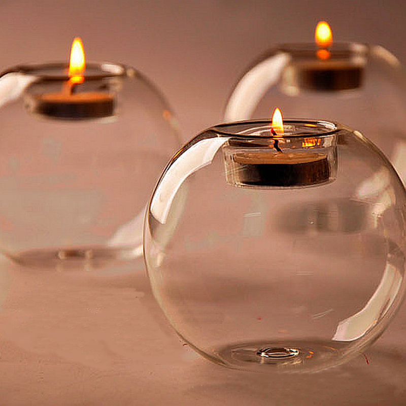 10cm Table Glass Ball Candle Holder Terrarium Bauble Vase Wedding Home Decoration Room Deco Candle Stand Holder|Vases|Home & Garden - title=