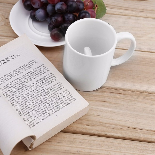 Creative White Middle Finger Style Cup Novelty Mixing Coffee Milk Cup Funny Ceramic Mug Enough Capacity Water Cup Drop Shipping 2