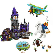 10432 Scooby Doo Figures Mystery Mansion Mystery Plane Adventures Mystery Machine Bus Blocks For Children Gift with legoed