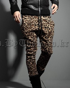 28 44 Plus Size Autumn Winter Men S Trousers Personality Handsome Leopard Print Slim Casualsports Pants Men Singer Costumes Men Trousers Pants Menmens Winter Trousers Aliexpress