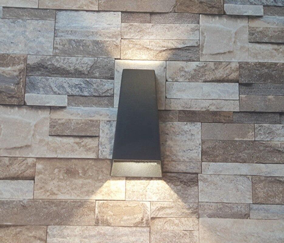 Moderne bref aluminium led 2*5 w étanche applique extérieure IP65 haut et bas led scone lumières pour jardin balcon AC90-265V A244