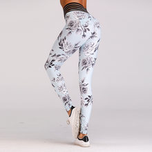Yoga Pantalon Imprimé Femmes Taille Haute Fitness Sport Leggings de Course  Femmes Serré Compression Élastique Workout Yoga . a36bad9d777