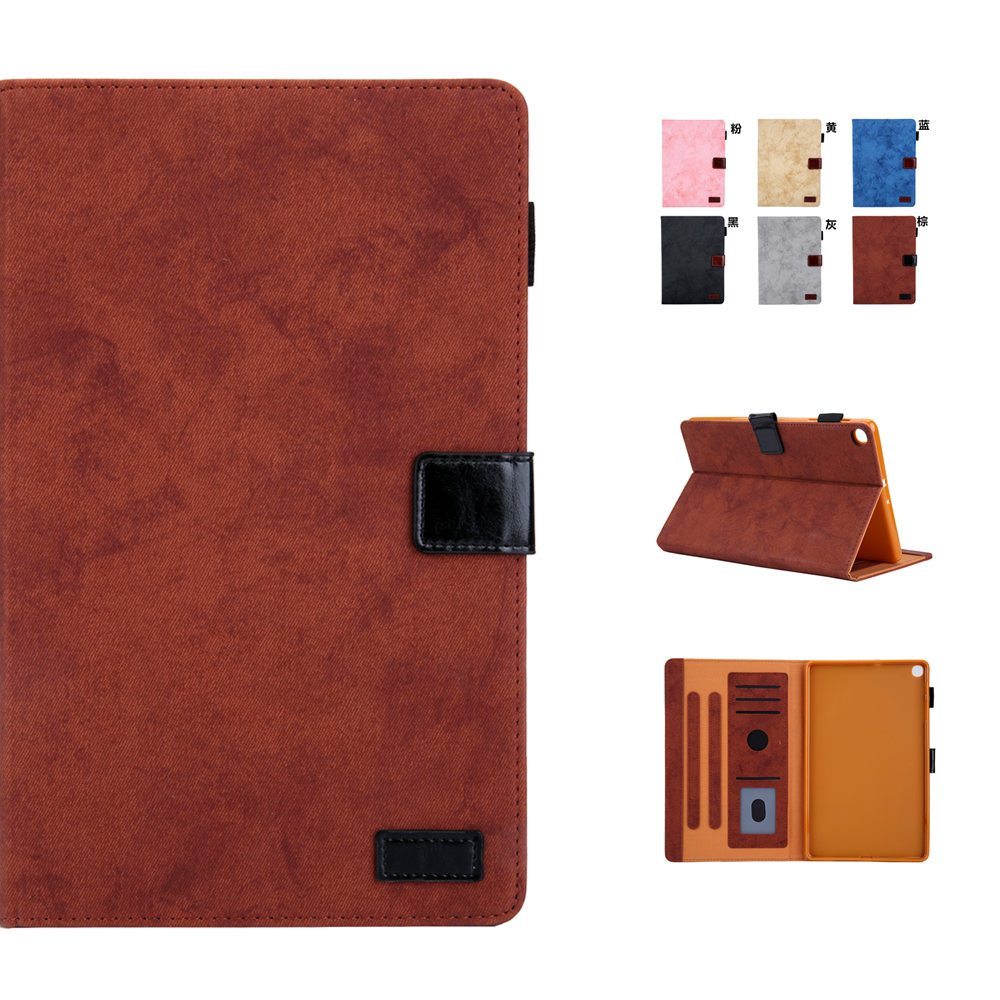 Business PU Leather With Soft TPU Back Shell Case For <font><b>Samsung</b></font> Galaxy Tab A 8.0 2019 With S Pen P200 <font><b>P205</b></font> Tablet Sleeve Bag Cover image