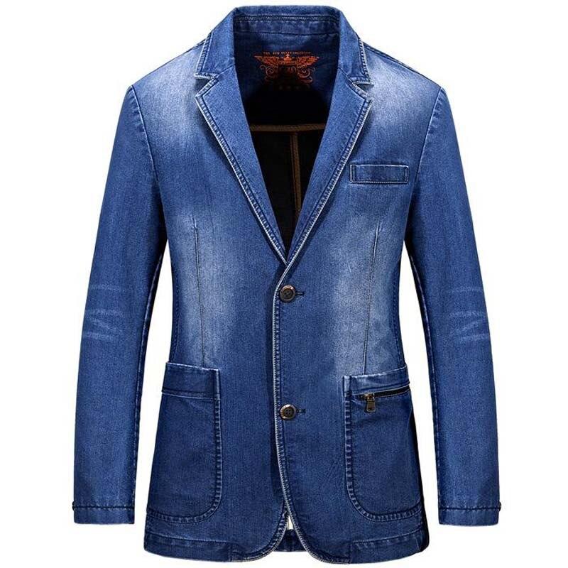 Aliexpress.com : Buy AFS JEEP Brand Men Denim Blazer 2017 New ...