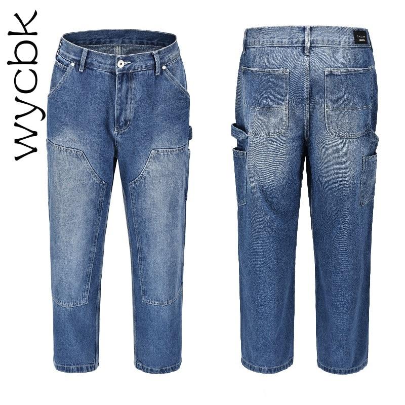 Schneidig Wycbk 2018 Neue Jeans Mode Beiläufige Lose Jeans Gerade Atmungsaktive Elastische Bequeme Breite Bein Hosen Mann