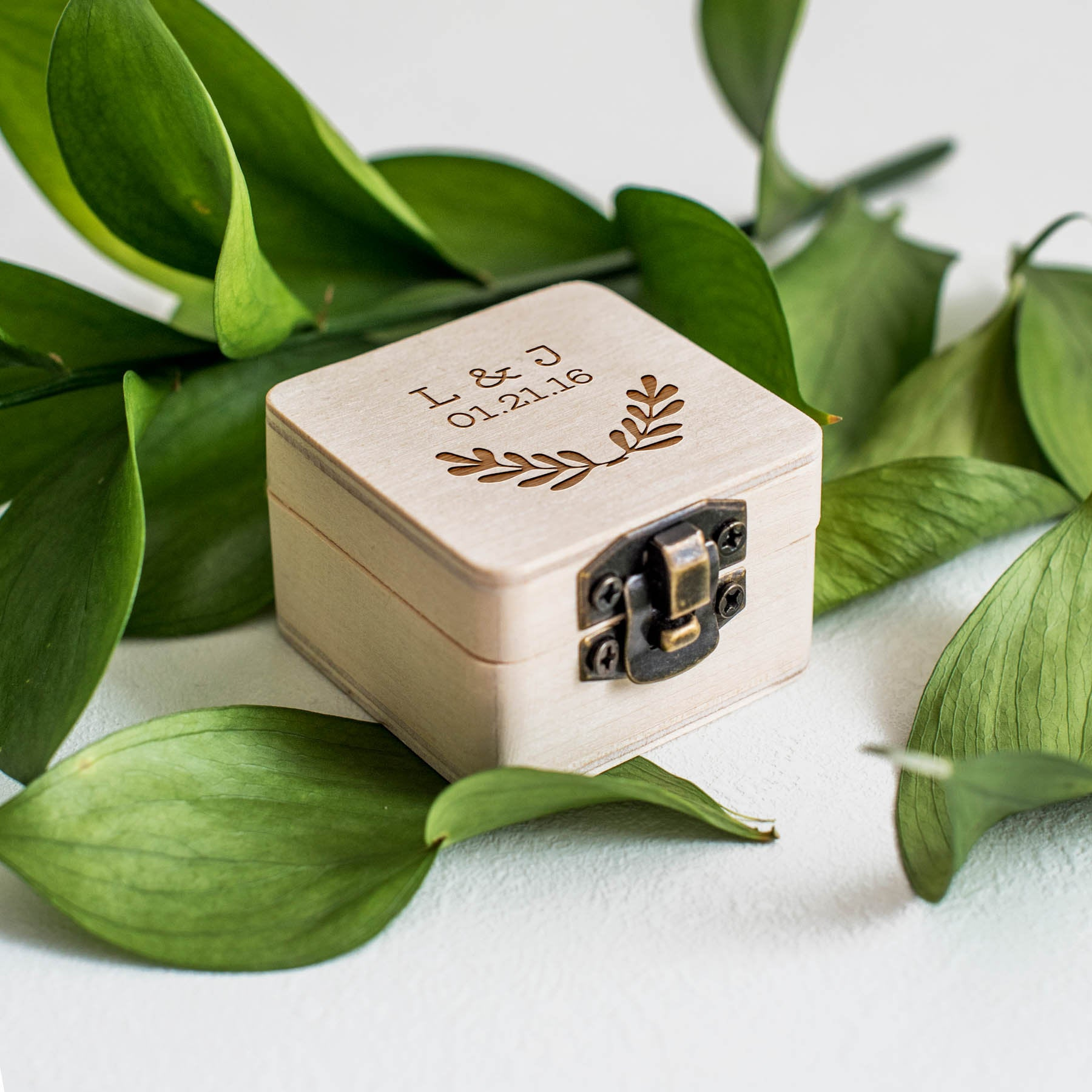 Rustic Wooden Ring Box Personalized Wedding Ring Bearer Box Rustic Ring Bearer Pillow Wedding Gift Anniversary Gift