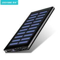 Solar 30000mah Power Bank bateria zewnętrzna 2 USB LED Powerbank przenośny telefon komórkowy ładowarka solarna dla Xiao mi mi iphone Samsung w Powerbank od Telefony komórkowe i telekomunikacja na