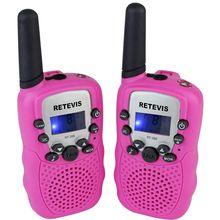RETEVIS 2 pcs Mini Walkie Talkie Rádio Crianças RT388 0.5 w FRS/PMR 446 Freqüência UHF Portátil rádio em Dois Sentidos dom rádio A7027 rosa