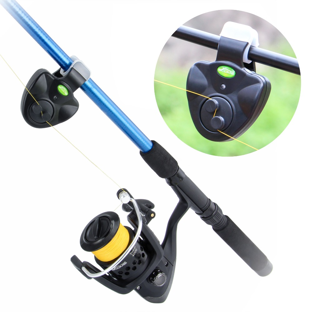 Booms Fishing E1 Fish Bite Alarm Electronic Buzzer on Fishing Rod with Loud Siren Daytime Night Indicator with LED Light in Fishing Tools from Sports Entertainment