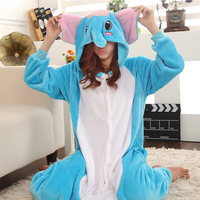 New 2014 Adult Christmas Costumes Animal Cosplay Onesies Pajamas Sleepwear Pyjamas Costume Elephant Cosplay Pijama Women