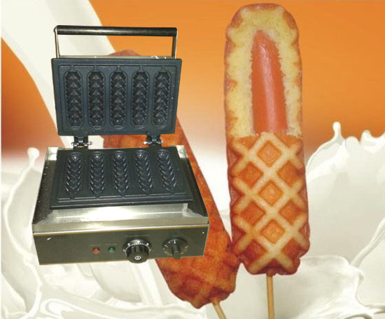 где купить Free shipping  with CE Approved Electric 5 pcs Hot Dog Grill  Lolly Waffle Machine по лучшей цене