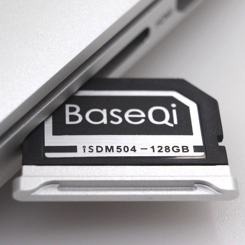 BaseQi Aluminum 128GB Storage Expansion SD Card For MacBook Pro Retina 15 (Late 2013 onwards) transcend jetdrive lite 330 storage expansion memory sd card for macbook pro retina 13 64gb