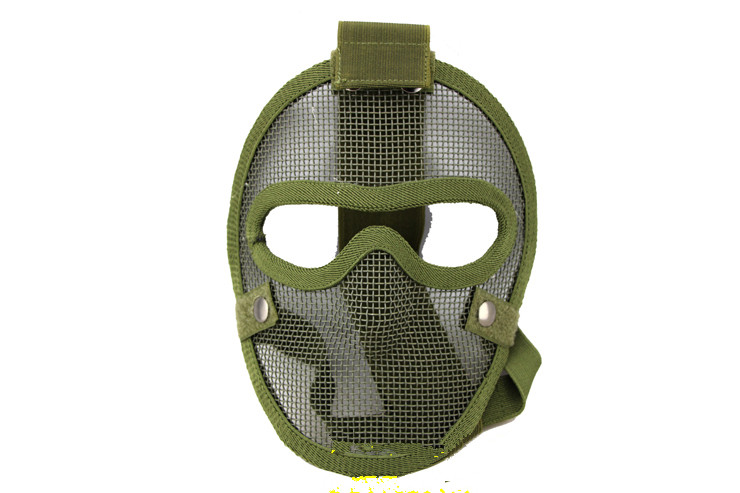 V4 Gas Mask CS Field Necessary Comprehensive Protection Security Wire Face Protection Mask Green Mask Mouthpiece