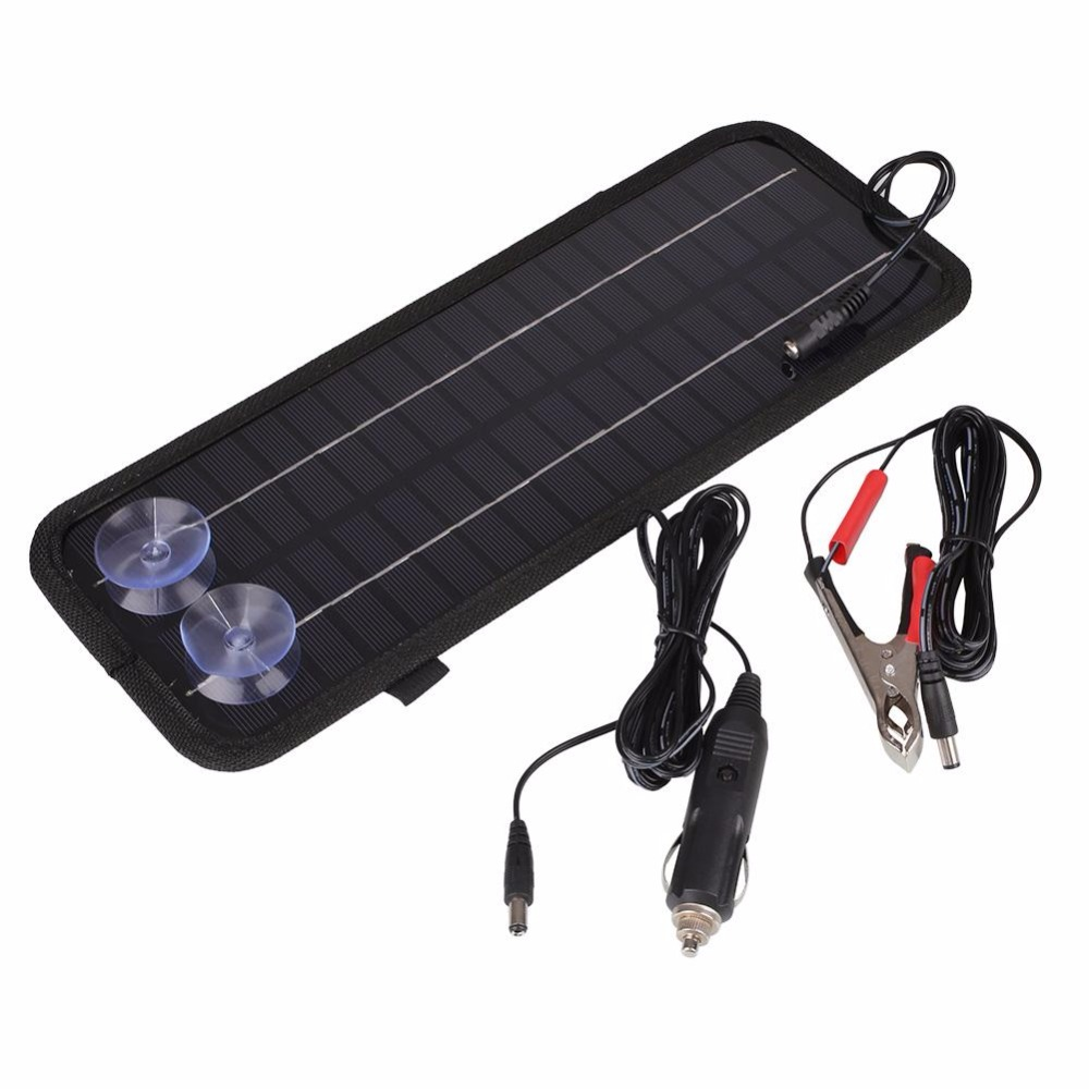 12V 4.5W Portable Smart Solar Panel Car Motorcycle RV Boat Caravan Batteries Bank Charger 320*125*5mm