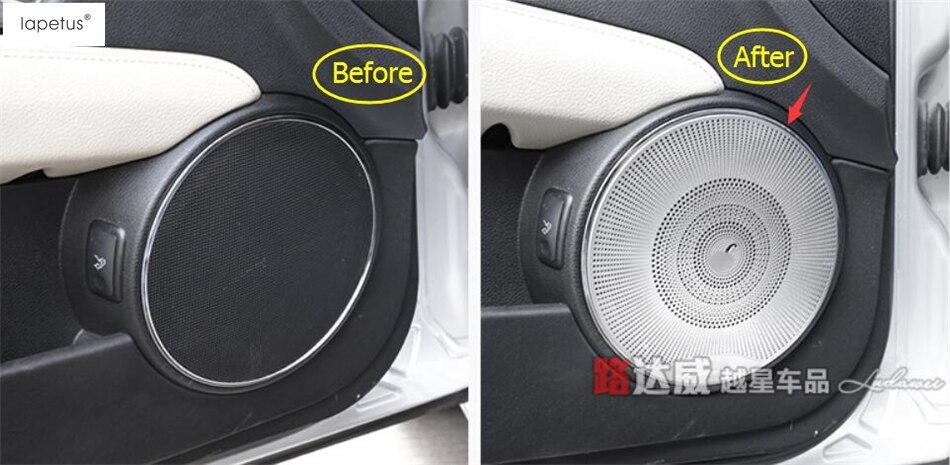 Accessories For Mercedes Benz C CLASS W204 2010 - 2013 Car Door Speaker  Audio Loudspeaker Sound Molding Cover Kit Trim 4 Pcs