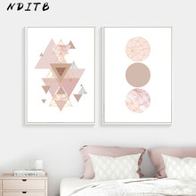 Geometric Polygon Wall Art Canvas Posters Minimalist Marble Abstract Prints Painting Nordic Style Decoration Picture Home Decor