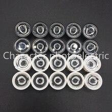 цена 100pcs/lot Led Lens 5 10 30 45 60 90 120 Degree for  1w 3w 5W Aquarium grow led light,Black White Holder Plano Lens  Reflectors в интернет-магазинах